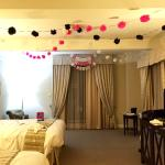 Our hotel room decorated for bachelorette party!