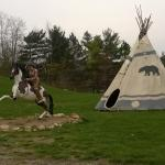 Kitchy 1950's decoation - Indian and TeePee