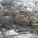 Berber village in the snow