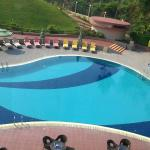 A view of the Swimming Pool from my room in the 2nd floor