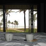 Coffee in bed- with a view!