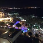 View from terrace at night