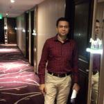 In front of the room