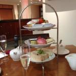 delicious afternoon tea at the Hilton