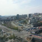 Seoul Station as seen from 11th floor elevator lobby