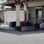 mountains of suitcases at the lobby... welcome !