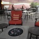 Firepit on veranda