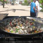Lunchtime:  Paella on the beach