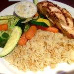 Grilled Salmon and veggies at Rusty's