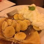 Banana crepes at Biscotti's.  Only complaint is bananas were not carmalized as described in menu