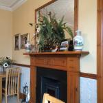 Fireplace in Breakfast room