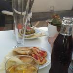 Snacks and drinks on the terrace