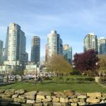 Looking from seawall downtown