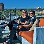 Relaxing at the best rooftop bar in ABQ.