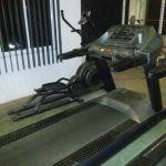 burning out the calories on the treadmill