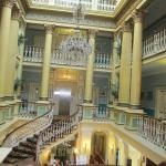 Main staircase in the central entranceway.