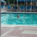 wifey swimming
