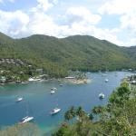 "Marigot Bay seen from the ""Great House"""