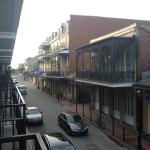 View of Bourbon St. from our balcony