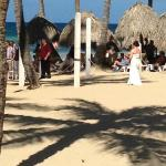 A bride walking down the aisle for her beach wedding--I wasn't the only one snapping photos!