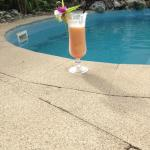 Mocktails by our private pool