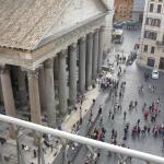 View of Pantheon from room 604 balcony