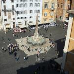 View of Piazza from room 604 balcony