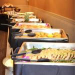The food was so good! Our guests raved about the buffet food.. Especially the salmon and the fac