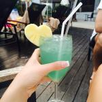 Yummy poolside cocktails