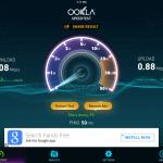 Slow wi-fi speedtest results.