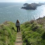 Along the Coast Path - steep hills!