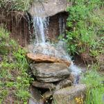 Small waterfall on the grounds