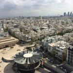 a look into the suburban tel aviv area from the 16th floor