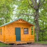 Our brand new 2 room rustic camping cabin!