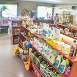 Our camp store complete with RV and camping supplies, household items, food, cold drinks, and ic
