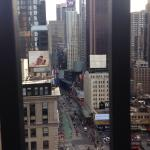 View of Times Square from room 2245