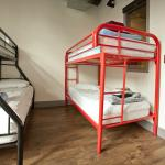 Standard dorm rooms have two bunk bed inside them.