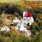 Laxey wheel taken from mountain train