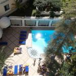 view from standard poolside room