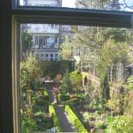 view of the garden from a guest room