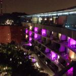 Hotel view by night