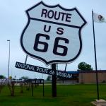 Perhaps the Largest Route 66 sign in Existence