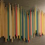 Drumstick Art in Room