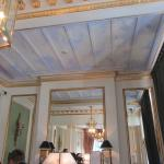 Painted ceiling in the entry hall