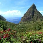 Pitons from Ladera Dasheene Restaurant