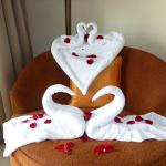 anniversary towel art!