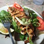 Grilled Shrimp Salad - wasn't on the menu but they accommodated when I asked for it!