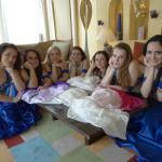 Dance Group Photo Session in the Hotel Lobby