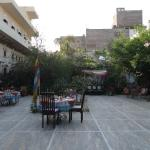 A beautiful courtyard that is used for meals