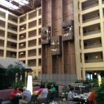 Elevators from the breakfast area